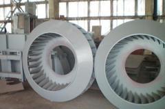 Крыльчатки вентиляторные, крыльчатки центробежных
