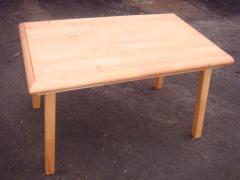 Table rectangular (massif of wood)