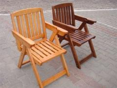 Chair chair of wood, folding from massif
