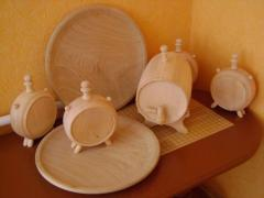 The ware is wooden household