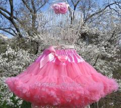 Нарядная юбка для девочки коралл