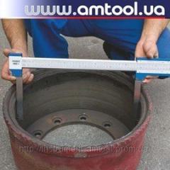 Vernier caliper for brake drum