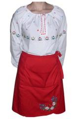 The waiter's suit in the Ukrainian style