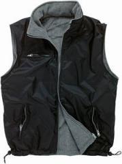 Vest quilted on fleece