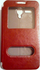 Чехол-книжка для Lenovo A606T с окошками