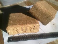 Fuel briquettes of RUF from from sawdust and