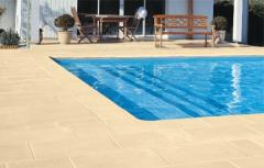 Tile for paths and boards of the pool (the