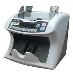 The banknote counter is stationary