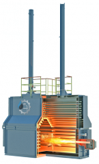 Horizontal pipe furnaces for oil heating