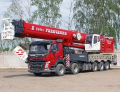 Cranes on the automobile chassis, truck cranes