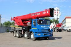 The KS-55731 truck crane loading capacity is...