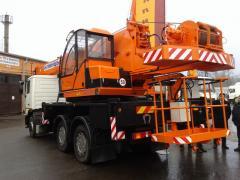The PKS-55713-6K-3 crane elevator on the MAZ-6312 chassis