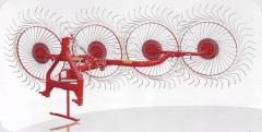 Grabli-senovoroshilka on 5 wheels. Haymaking