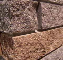 Блоки строительные колотые (серый,красный,желтый,