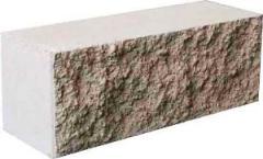 Блоки строительные заборные (серый, красный,