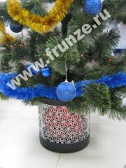 Decorative cache-pot for a New Year tree and