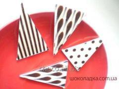 Шоколадные украшения для тортов