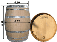 Barrel of 228 l. - type of Burgon