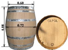Barrel of 228 l. - type of Burgon