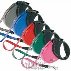Поводок рулетка для собак Flexi ленточный с мягкой