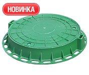 Люк садовый полимерный зеленый