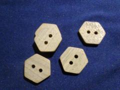 Button hexagonal (10 pieces).