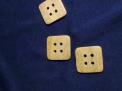 Пуговица квадратная 34 мм ( 10 шт )