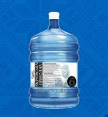 Deep-well mineral natural table water of the