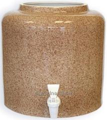 Диспенсер керамический Мрамор коричневый (арт. 013)