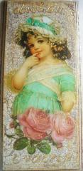 Picture vintage decorative 'Girl in a blue