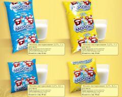 Молоко пастеризованное 2,5% жирности 500 г