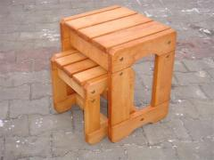 Stool chair wooden