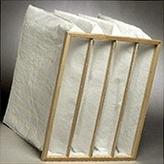 Pocket air filter of 592x592x650 8 pockets