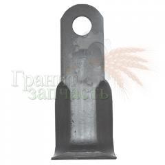 Нож мульчирователя L-подобный 205х50 d=25.5, 285013, 279005, CTX45200, T40004068, (пр-во Италия)