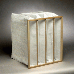 Pocket air filter 490x592x380 resistance 155