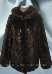 Jacket fur of pieces of fur of a mink, tailoring,