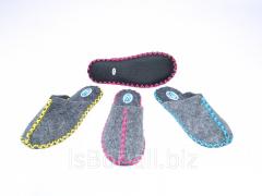 Женские войлочные тапочки