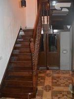 Деревянная Лестница - Прямая двухмаршевая (Дуб)