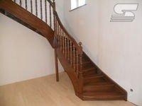 Деревянная Лестница - Г-образная (Бук)