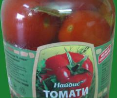 The canned tomatoes etc to Najdis