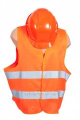 Vest tk.neylon with light-reflective strip