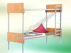 Bunk bed with bylets of a chipboard and a ladder