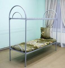 Bunk bed with metal bylets