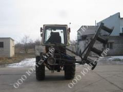 The mower tractor KPO 2,1 with hydraulic raising