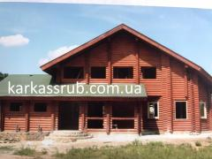 Сборные дома из оцилиндрованного бруса в Донецкой