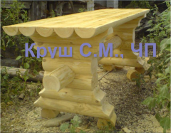Стол из оцилиндрованного бруса
