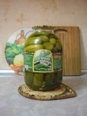 Cucumbers marinated 3 l. TM Naydis