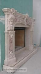 Exclusive carved portal for a fireplace from