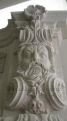 Bas-relief from marble.