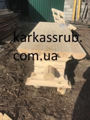 Стол из оцилиндрованного бруса Донецкая область